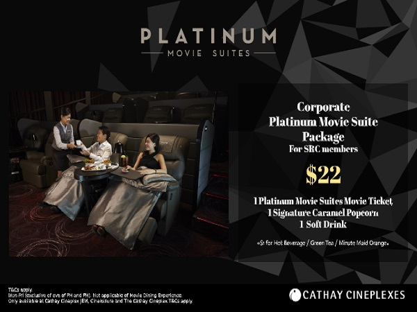 Cathay Corporate Platinum Movie Suite Package At Only 22 For Src Members